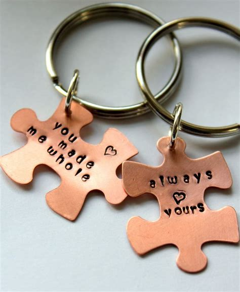 personalized valentines gifts for boyfriend valentines for him puzzle keychain