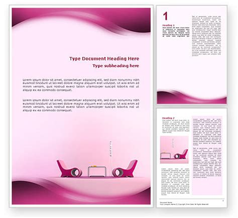 word template designer modern interior design word template 02808