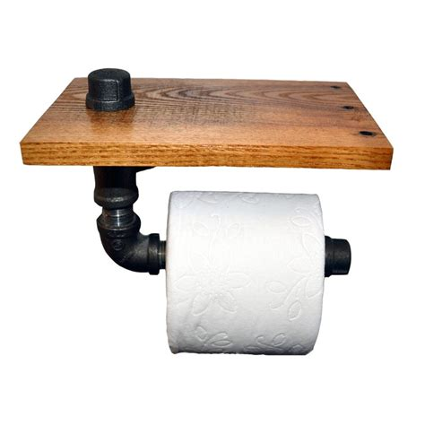 reclaimed wood pipe toilet paper holder home do not reclaimed wood and pipe toilet paper holder