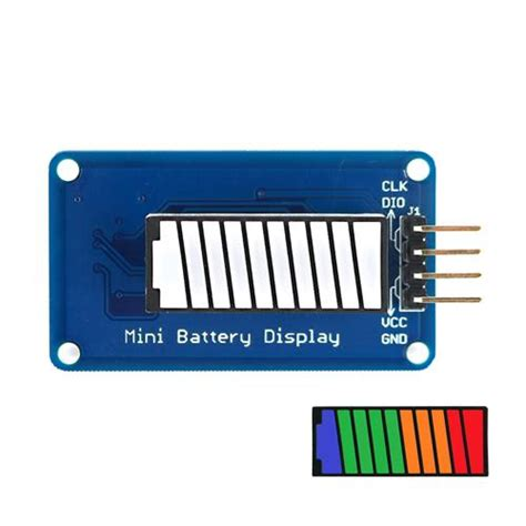 battery color battery style digital led battery level display module