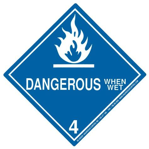 hazardous warning