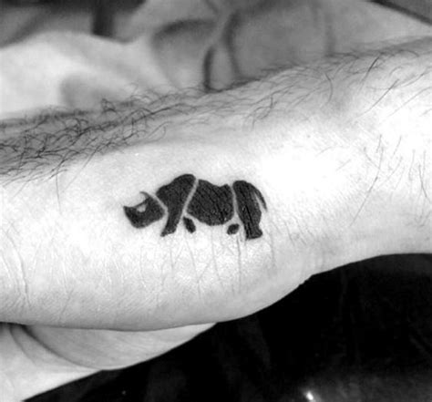 90 rhino tattoo designs for men cool rhinoceros ink ideas