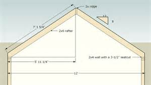 a frame roof pitch gres shed roof pitch