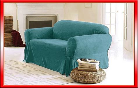 Teal Slipcover new luxury soft micro suede sofa cover slipcover sea foam teal ebay