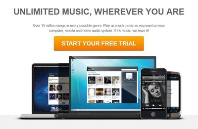 unlimited music wherever you are, over 15 million songs