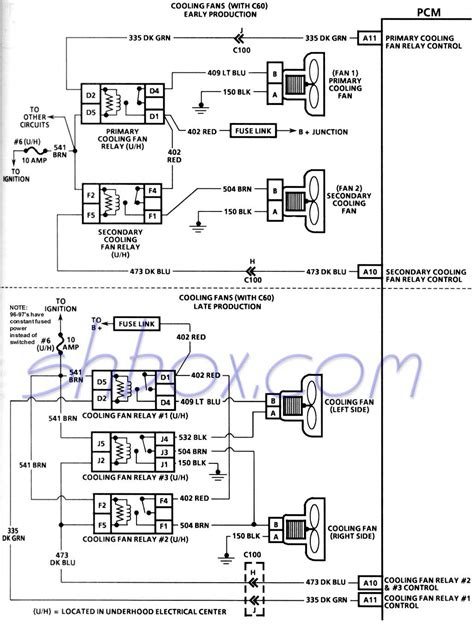 dual electric fan wiring diagram with hvac relay to