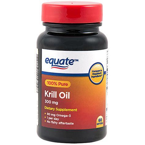 Suplemen Krill equate megakrill 100 krill dietary supplement softgels 300mg 60 count walmart