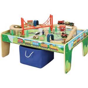 Small Train Table wooden 50 piece train set with small table only at walmart
