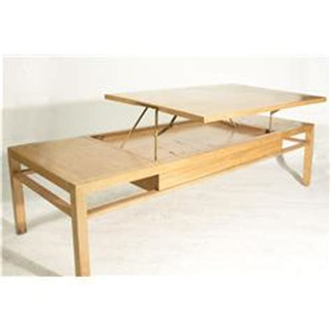 Pull Up Coffee Table Vintage 1950 S Rectangular Coffee Table With Hinged Pull Up Top