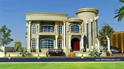 design villa 3d front elevation com beautiful modern villa design 2015