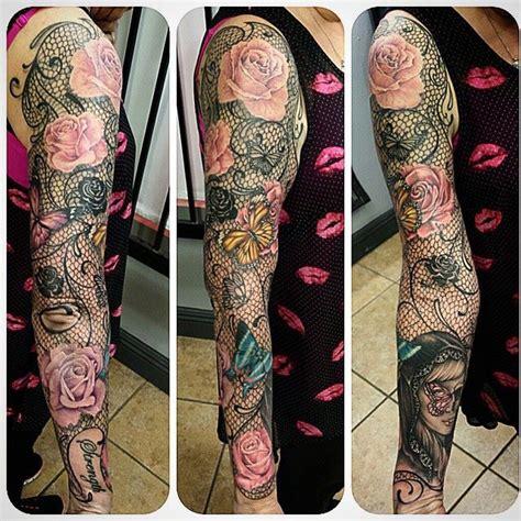 tattoo family theme sleeve best 25 lace sleeve tattoos ideas on pinterest lace