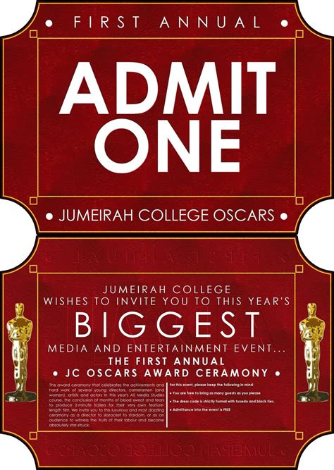 oscar invitation template jumeirah college oscars invite by gnu32 on deviantart