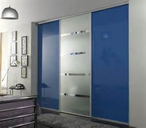 The Blue Closet by Check Blue Glass And Mirror Sliding Door Wardrobe Black