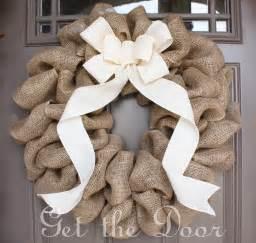 burlap wreath with cream bow burlap wreath spring wreath