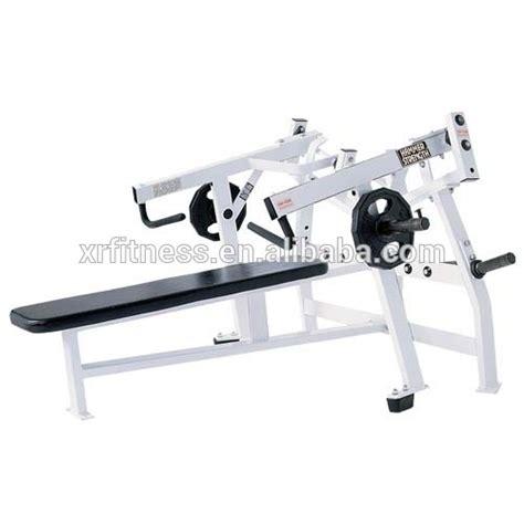 horizontal bench press machine life fitness hammer strength plate loaded gym equipment