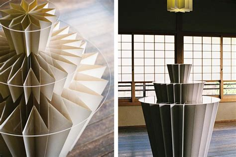 Origami Paper Store - miso designs beautiful origami tables for kyoto s shofudo