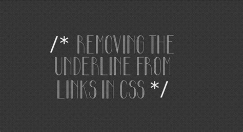 css underline color removing the underline from links in css css3 tutorial