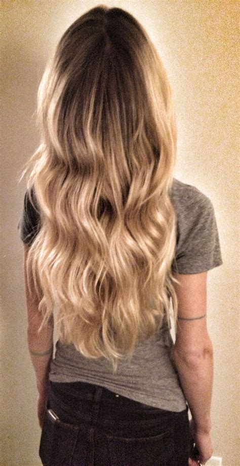 tattoo hair line blond wavy hair ombre balayage highlights