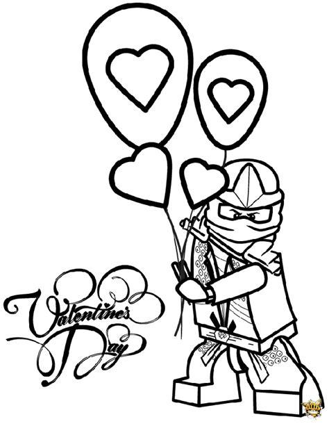 Lloyd Ballon Saint Valentin Est Un Coloriage De Ninjago Free Printable Coloring Bookmarks L