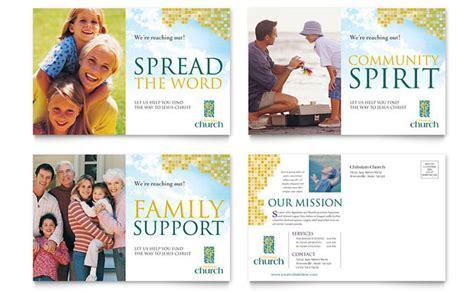 christian brochure templates christian church postcard template design