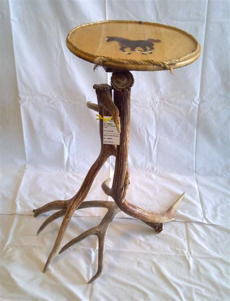 Deer Table Rustic Antler Furniture Accent Table Painted