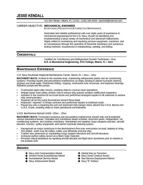 mechanical engineering resume http topresume info mechanical engineering resume