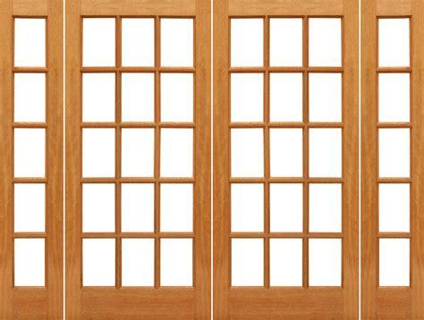 15 light exterior door prehung 15 lite mahogany wood ig glass