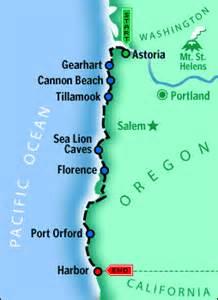 oregon coast highway map summer drives the oregon coast may 13 2002