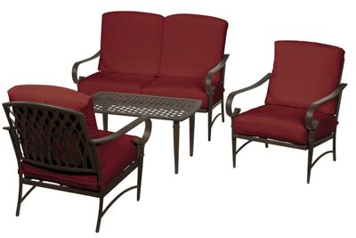 hton bay oak cliff 4 piece metal outdoor deep seating oak cliff collection outdoors the home depot