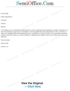 application letter for lost driving licence application for duplicate driving licence