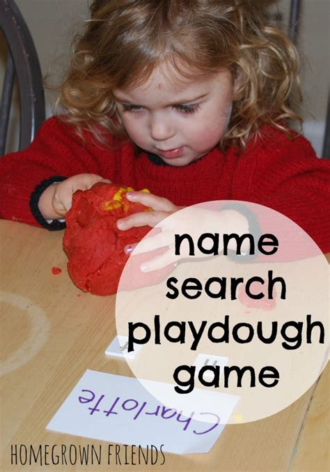 Friends Name Search Name Search Playdough Homegrown Friends