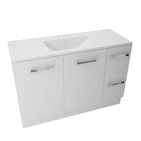 Marbletrend Vanity by Marbletrend 1200 X 460mm White Kimberley Vanity Unit 3th I