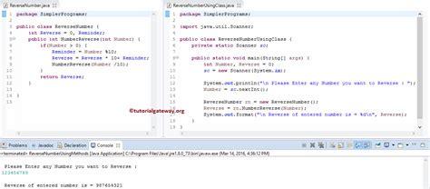 java program for reverse pattern program to reverse a number in java