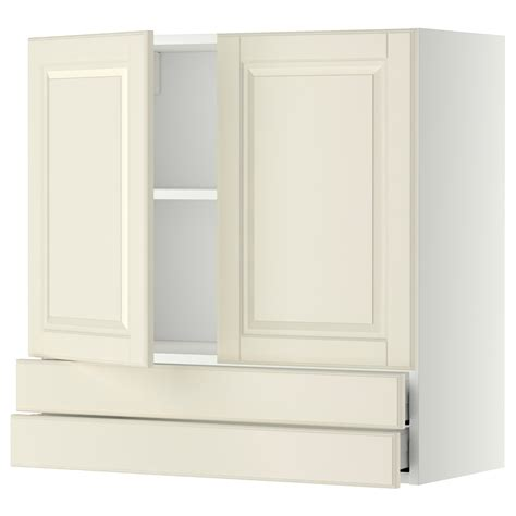 kitchen wall cabinets with drawers metod maximera wall cabinet w 2 doors 2 drawers white