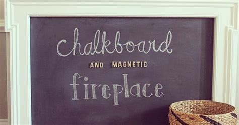 diy chalkboard fireplace diy chalkboard and magnetic fireplace cover on the