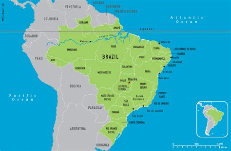 brazil map brazil map free large images
