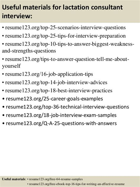 Lactation Consultant Sle Resume by Top 8 Lactation Consultant Resume Sles