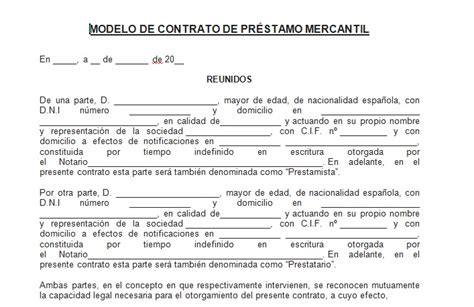 ejemplo de carta de prestamo de dinero formato contrato de prestamo de dinero ejemplo de contrato