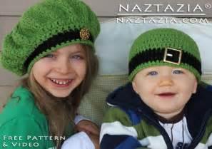 Free crochet pattern amp video irish inspired beret hat and beanie hat