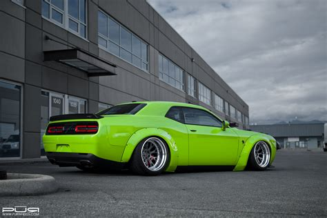 widebody hellcat green featured fitment liberty walk srt hellcat w pur wheels
