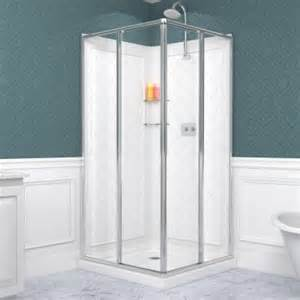 corner shower door kits dreamline cornerview 36 in x 36 in x 76 75 in corner