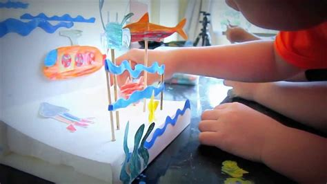 How To Make A 3d Fish Out Of Paper - 3d mini aquarium kid craft