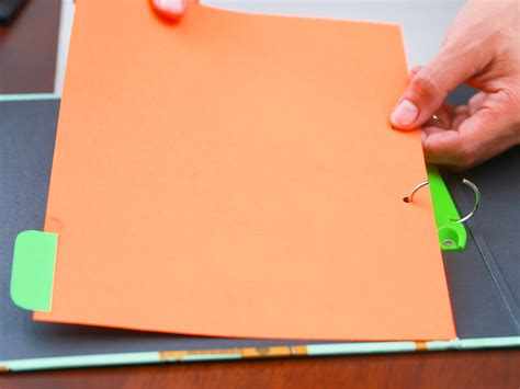 How To Make Paper Pocket Folders - how to make paper dividers 7 steps with pictures wikihow