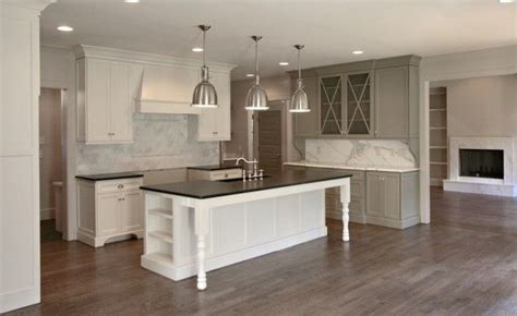 restoration hardware kitchen island fitzgerald construction kitchens benjamin moore