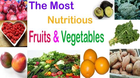 fruit v vegetables nutrition top most nutritious fruits and vegetables