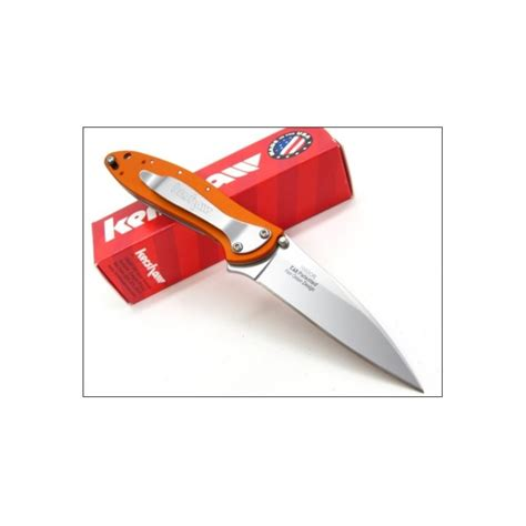 kershaw orange leek couteau kershaw leek orange a o lame acier 14c28n manche