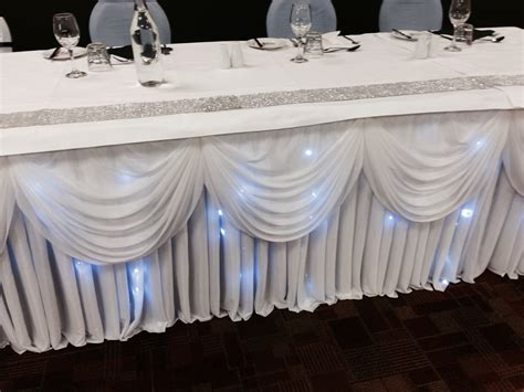 Table Skirts by Scallop Table Skirt 6 5m Something Borrowed