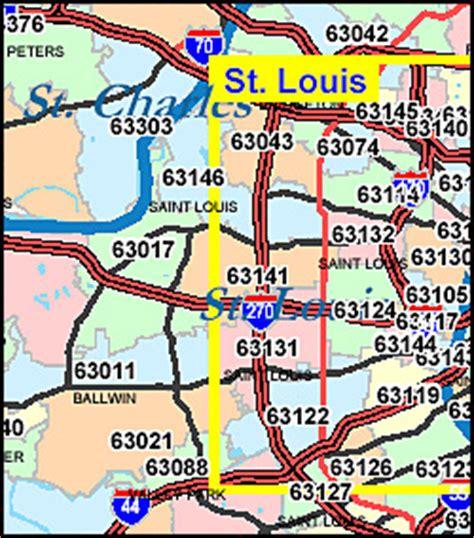 zip code map st louis missouri zip code map including county maps