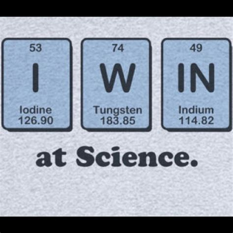 Periodic Table Of Elements Puns by Win Science Element Iodine Tungsten Indium Periodictable