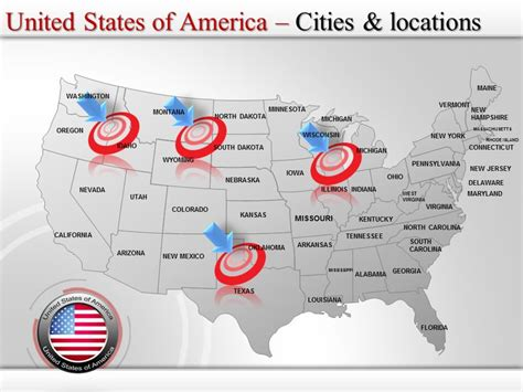 powerpoint map united states usa presentationload